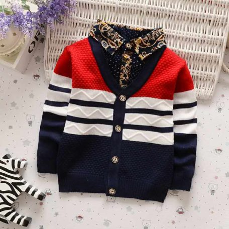 BibiCola Autumn Winter boys sweaters kntting cardigan casual boys pullovers Children's Kids Warm Clothes Gift For Boy 4
