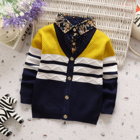 BibiCola Autumn Winter boys sweaters kntting cardigan casual boys pullovers Children's Kids Warm Clothes Gift For Boy 3
