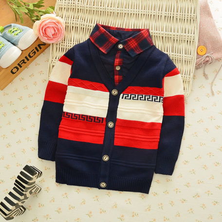 BibiCola Autumn Winter boys sweaters kntting cardigan casual boys pullovers Children's Kids Warm Clothes Gift For Boy 1