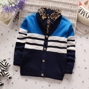 BibiCola Autumn Winter boys sweaters kntting cardigan casual boys pullovers Children's Kids Warm Clothes Gift For Boy